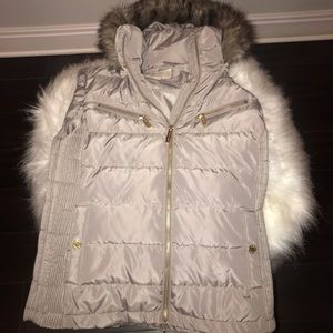 Brand NEW Micheal Kors Hooded Faux Fur vest